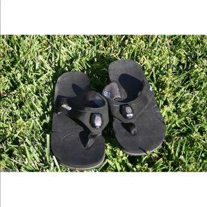 Teva Shoes - Womens Black TEVA ILLUM Light Up Flip Flop Sandals